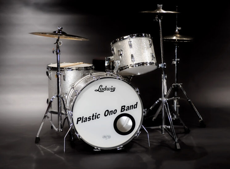 World Famous Silver Sparkle Drum kit, recorded on