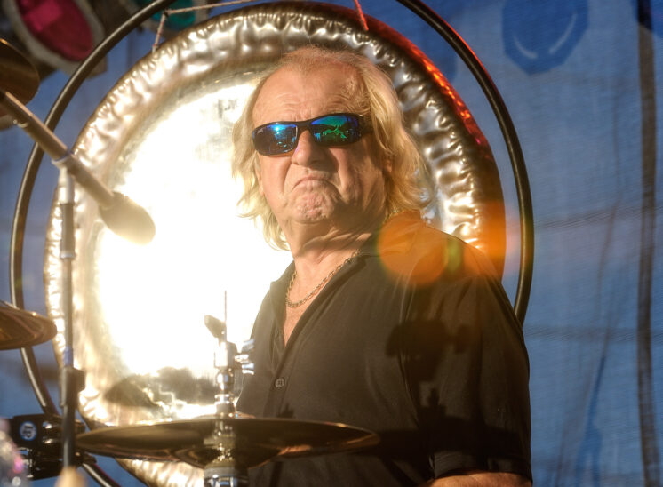 Alan White: World-famous RRHoF drummer for Prog Rock Group YES, John Lennon/Imagine and Instant Karma, George Harrison/My Sweet Lord and many other world music contributions. Shot captured during a local performance by my talented and Beloved wife, Lois. Jerry and Lois Photography