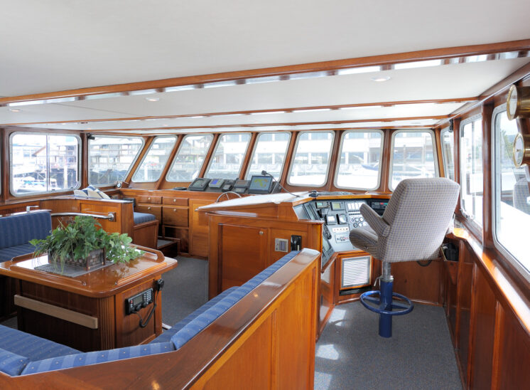 Custom steel-hull private yacht