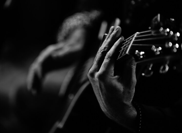 Roger Fisher, founding guitarist of supergroup HEART and Rock and Roll Hall of Famer Inductee   , hands closeup