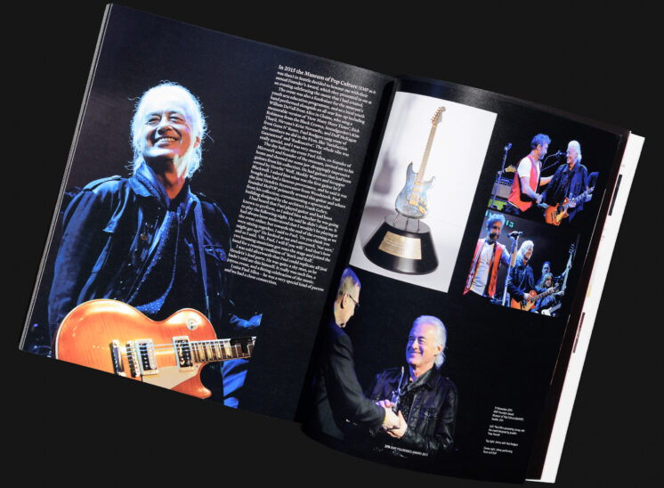 """Jimmy Page (Led Zeppelin), and his fabulous biography """"The Anthology"""", Limited Edition with photos from Jerry and Lois. © Jerry and Lois Photography."""
