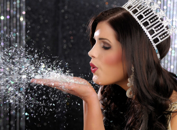 Crown Shot for title holder for Miss WA USA 2012, blowing pixie dust. © Jerry and Lois Photography, all rights reserved