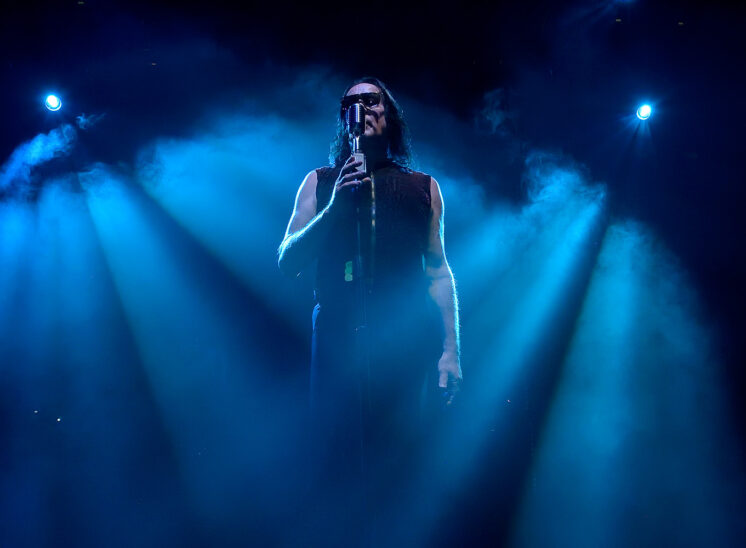 World-class musician Todd Rundgren during performance and dynamic lighting. Jerry and Lois Photography