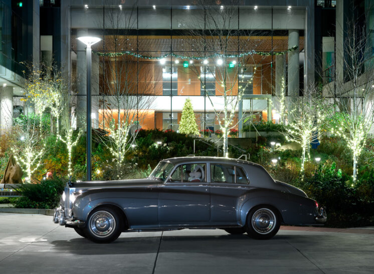 Southport by SECO Development, 2020 Holiday Card with classic Rolls-Royce. Jerry and Lois Photography