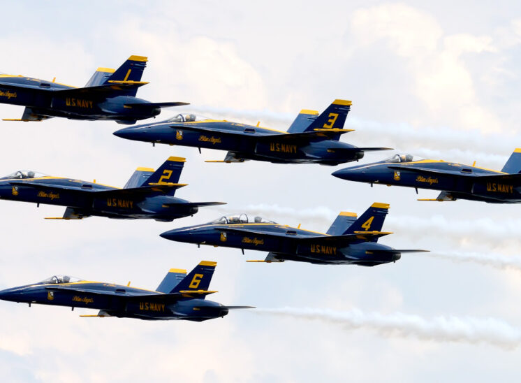 Seafair with the fabulous Blue Angels flying past in perfect formation. © Jerry and Lois Photography, all rights reserved