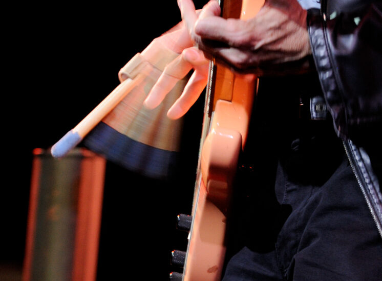 World-renowned bassist virtuoso, Tony Levin (Peter Gabriel, King Crimson, John Lennon, Paul Simon...) with his Funk Fingers at full throttle. © Jerry and Lois Photography, all rights reserved