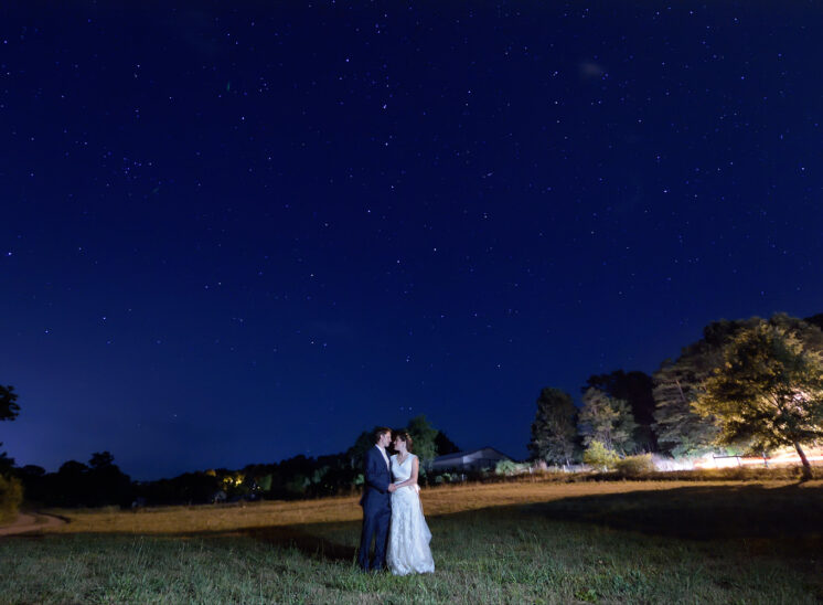 The Northern Sky with the Big Dipper blessing a newlywed couple in North Carolina's Smokey Mountain foothills. Jerry and Lois Photography